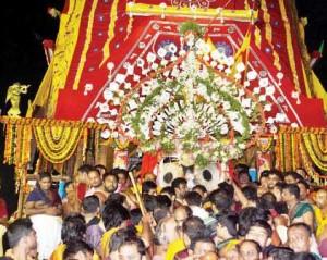 Lord Jagannatha inside the Gundicha Temple