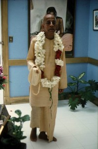 Prabhupada chanting japa in Los Angeles