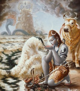 Lord Shiva Drinking the Ocean of Poison