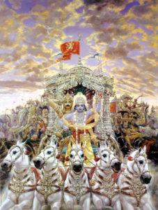 Arjuna with Hanuman on Flag