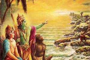 Lord Rama with Monkeys
