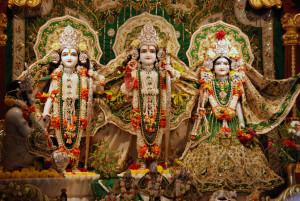Sita, Rama, Laksmana, and Hanuman at ISKCON Juhu, Mumbai
