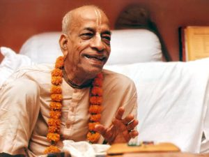 Prabhupada speaking and smiling
