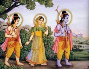 Rama, Sita, and Laksmana