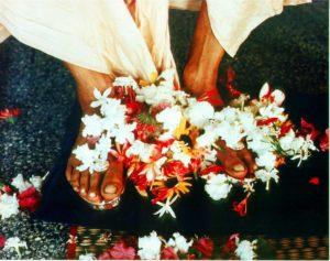 Prabhupada's lotus feet, Juhu