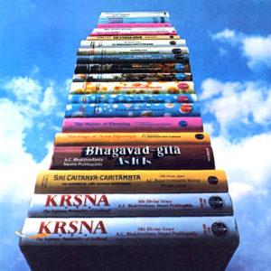 Stack of Prabhupada's books