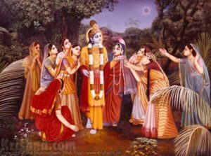 Krishna and the Gopis in Kurukshetra on Solar Eclipse