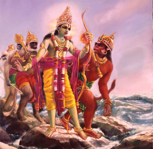 03-28-05 Lord_Rama_Crossing_the_Ocean